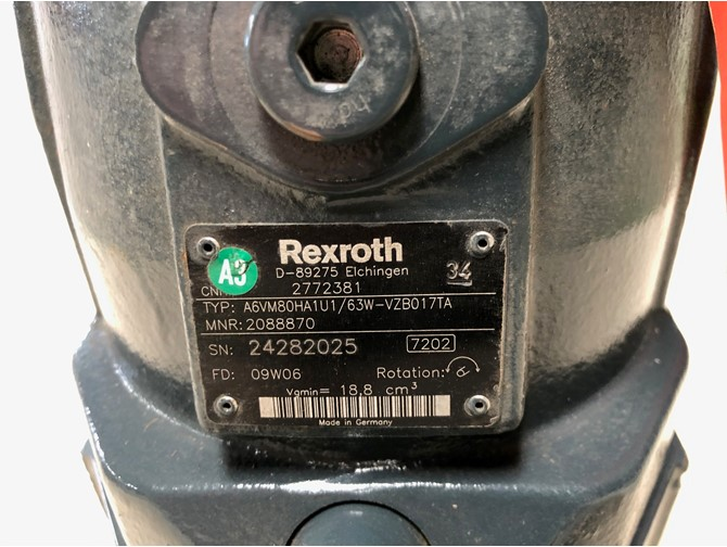 REXROTH axiale plunjermotor - vgmin 18.8  cm3.